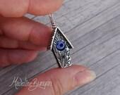 Silver Bird House Pendant...