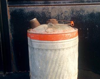 Vintage Metal Gas Can Old Kerosene Can Vintage Petrolina Galvanized Gas Can