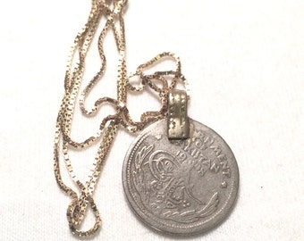 1948 quarter repee pendent with 925 sterling sliver necklace