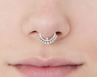 Fake septum ring. faux septum. Indian septum ring. tribal septum ring. septum piercing. fake septum. septum jewelry