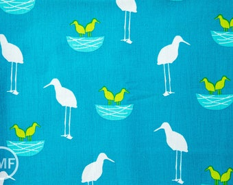 Perfectly Perched Nest in Meadow, Laurie Wisbrun, Robert Kaufman Fabrics, 100% Cotton Fabric, AWN-12849-270 MEADOW