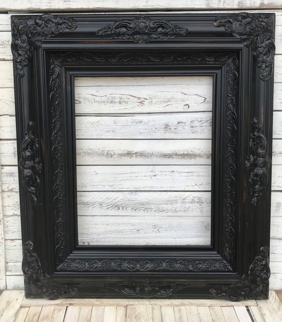 Baroque shabby chic Style Frame,distressed black,oil painting frame ...