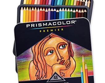 Prismacolor 48 Count Premier Colored Pencils Set Soft Core Gifts for Artist Gifts Coloring