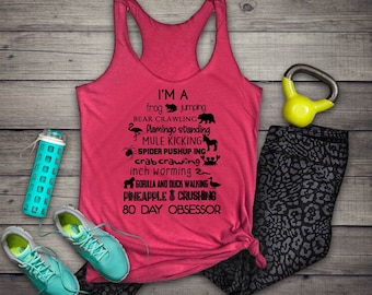 Cardio Flow // 80 Day Obsession // Beach Body // Exercise // Pineapple Shirt // Workout Top // Beachbody Coach