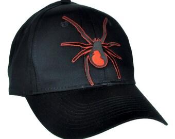 Black Widow Spider Black Baseball Cap Hat - DYS-EP404-CAP