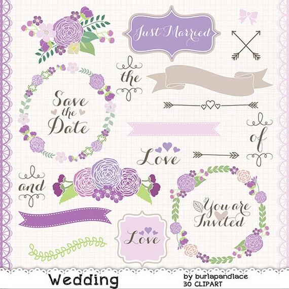wedding wreath clipart flower purple flower clipart bridal rh etsy com Lilac Border Clip Art Lilac Sprig Clip Art