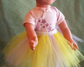 Purple and Yellow Tutu for 18-inch Dolls