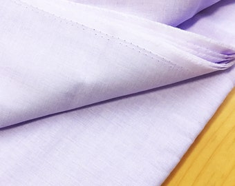 japanese fabric. solid cotton double gauze. 108cm (42.5in) wide. sold by 50cm (19in) long / half yard. lavender