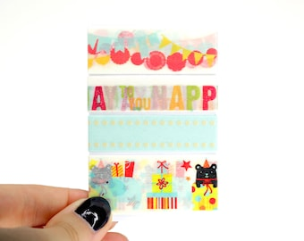 Planner Washi Sampler, 4 Washi Tape Samples for your Erin Condren Life Planner, Mambi Happy Planner, Planner Accessories