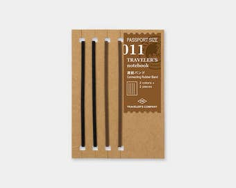 Midori Traveler's Notebook Accessories 011 - Connecting Bands - Passport Size - Set of 4