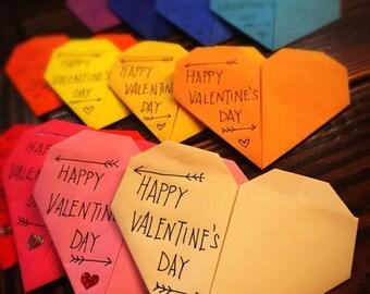 Heart Origami Valentine's Card