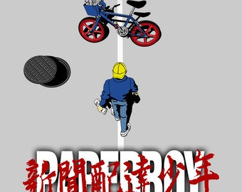 Paperboy - Paperboy Men's Unisex T-Shirt - Anime Manga Gaming Parody Clothing
