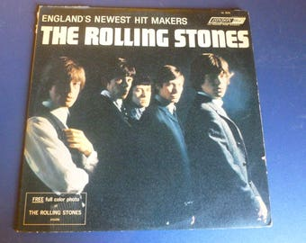 """On Sale Vintage  The Rolling Stones Vinyl Record LL 3375 London ffrr """"Made in England """" Label , without color photo, 1964 Very Rare"""