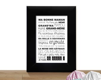 My grandma card - a nice way to say I love you - sweet words for Grandma