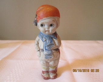 Vintage Penny Doll, Frozen Charlotte Doll, Home Decor, Doll Collector, Figurine, Made in Japan C77