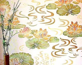 Water Lilies Stencil ©