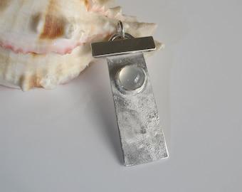 Moonstone & Sterling Pendant, June Birthstone, Gift for Mom or Grad