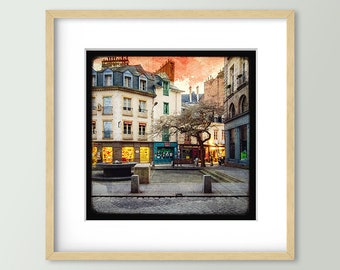 Place de Coëtquen - Rennes - Fine Art Print 30x30cm - Signed and numbered