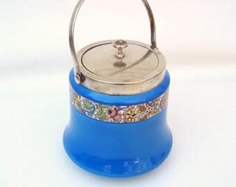 Antique Ice Bucket | Cookie Jar | Biscuit Barrel | Tea Box | Art Deco Barware | Pottery Jar with Lid