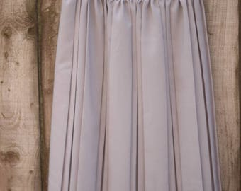 Vintage Grey Pleated Midi Skirt