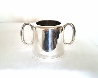 Silver Plate Two Handle Hotel Ware Sugar Bowl