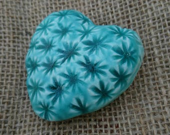 Handmade ceramic modern and contemporary textured heart/keepsake/ornament/gift.