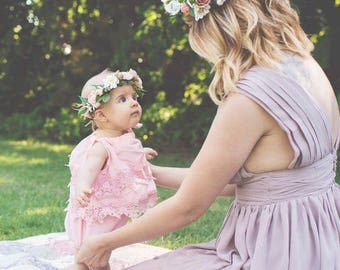 Flower Crown Mommy and Me, Mommy and Me flower crown, infant flower crown