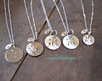Sibling Jewelry, Personalized Gifts, Hand Stamped Necklace, Sister Jewelry, Silver Jewelry, Hand Stamped Jewelry, Name Jewelry, Gift for Her