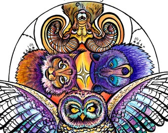 Mixed media Mindfulness Coloring Book- Whimsical Wildlife of the Pacific Northwest