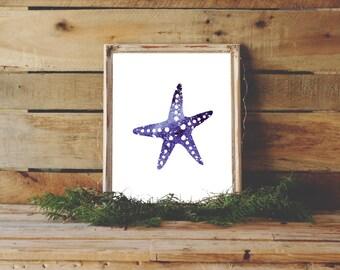 Starfish Print, Nautical Decor, Coastal Decor, Ocean Print, Starfish Art, Starfish Print, Printable Sea Star, Starfish Wall Art, Home Decor