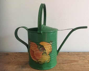 Vintage Green Metal Watering Can