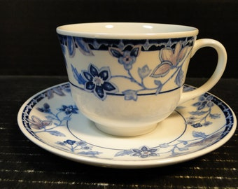 Johnson Brothers Cornflower Tea Cup and Saucer Set EXCELLENT!