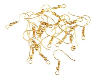 Plated 18K gold plated-4 hooks