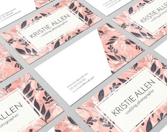 Floral Cards, Modern Business Card, Business Card, Business Card Design, Calling Card, Personal Card, Card Template, Business Branding