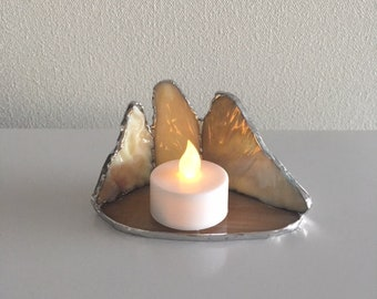 LED Candle Holder Cafe au lait Glass BayView
