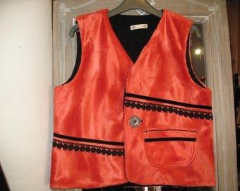 sleeveless vest faux fur