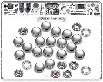 20SETS 9MM MIRROR Fashion Pearl Snaps Fasteners for Western Shirt Clothes Popper Studs