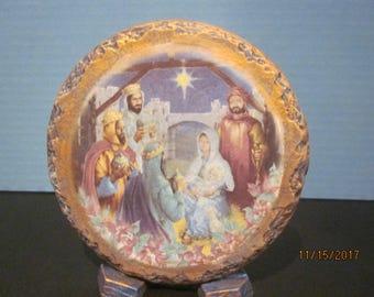 Ceramic Nativity Plaque