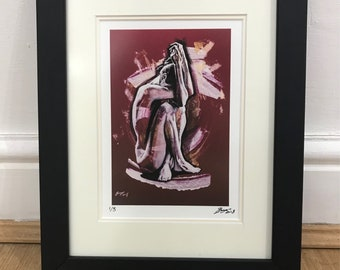 Framed Giclee Print of Figurative Painting