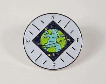 World Compass Pin