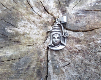 Shiva Charm Pendant – Sterling Silver
