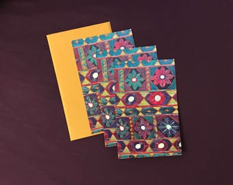 3 x Mirror Work card with envelopes