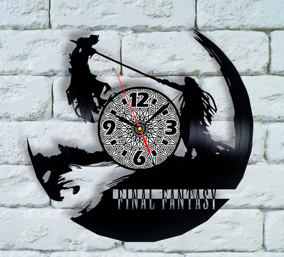 Final Fantasy Xv Cosplay Vinyl Clock Final Fantasy Xiv Legend