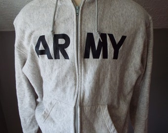Vintage Hooded ARMY Sweatshirt