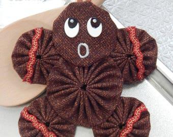 Gingerbread Yo Yo  Ornament - Gingerbread Cookie GB30