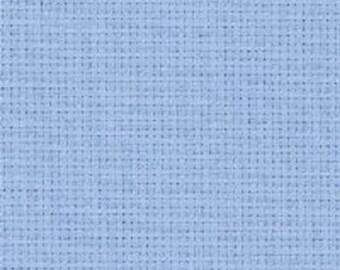 Aida, 14 count Sky Blue Aida from Zweigart 74 x 50 cms, fabric for cross stitch, 148 x 50 cm, cross stitch fabric