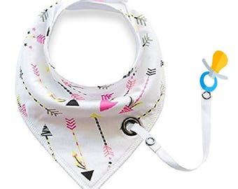 Bandana Drool Bib | Unisex | Pacifier Clip | Adjustable bib | Multi- function bib | Baby Shower gift | Infant gift | Drool Bib