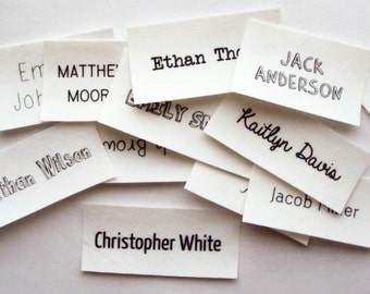Iron On Name Tags, personalized labels for kids clothes (school name labels)