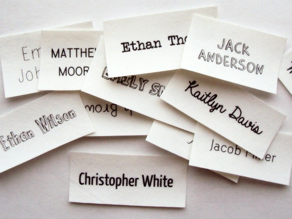 Custom name labels for clothing - No slip grip hair ties