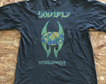 Vintage Soulfly Worldwide One World One Tribe Tour Size L